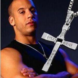 Silver Men's Cross Necklace